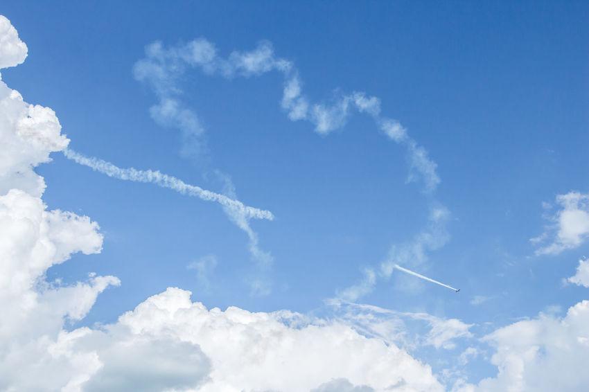 Air Air Sport Aircraft Airplane Airplane Wing Airshow Airshowphotography Blue Blue Sky Cloud - Sky Cloud Heart Contrail Contrail Contrail Heart Extreme Love Love Sign Air MXS MXS Outdoors Sky Smoke Sport Vapor Trail Verezoltán