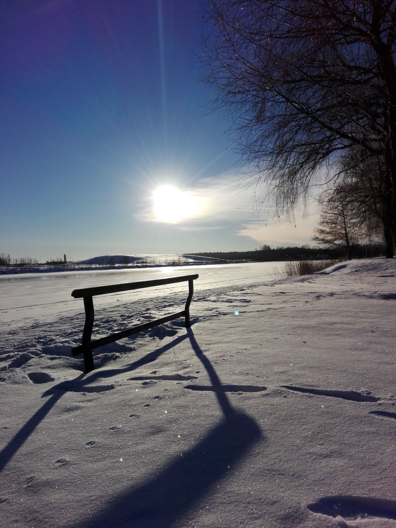 Sun and shadows Sunlight Beauty In Nature Outdoors Cold Temperature Nature Naturelovers Weather Finnish Nature Photography Photographer Nature Photography Winter Naturebeauty Winter Landscape Snow ❄ Landscape_photography Winterwonderland Wintertime Sunset