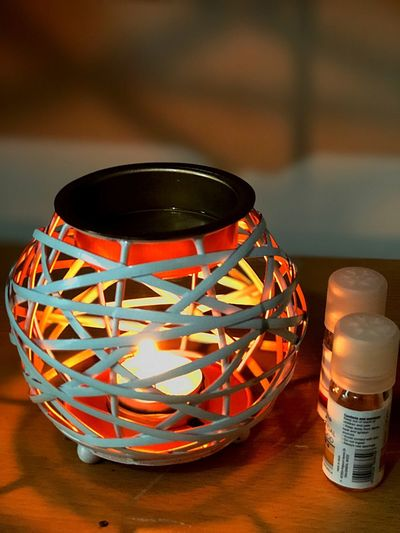 Relaxing Scent Relaxing Scented Oil Candle Light No People Close-up