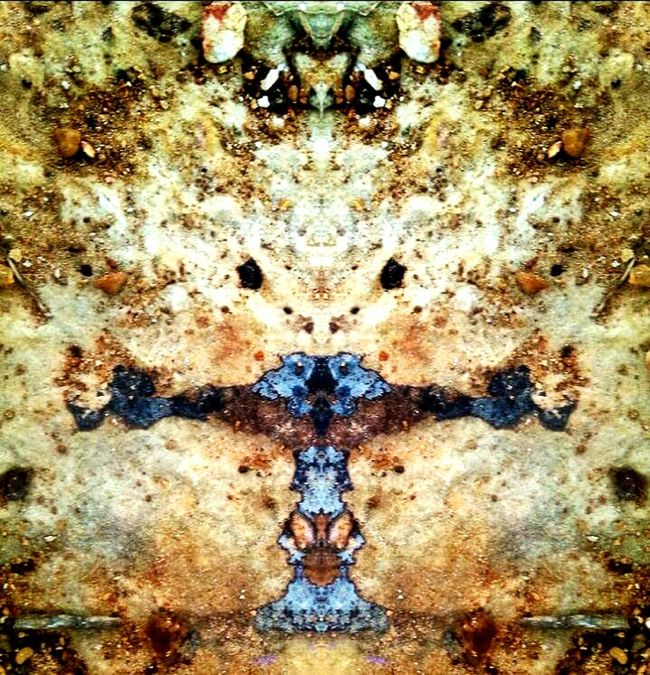 Double Exposure Antient Artifact Indian Tribal Rocks And Minerals