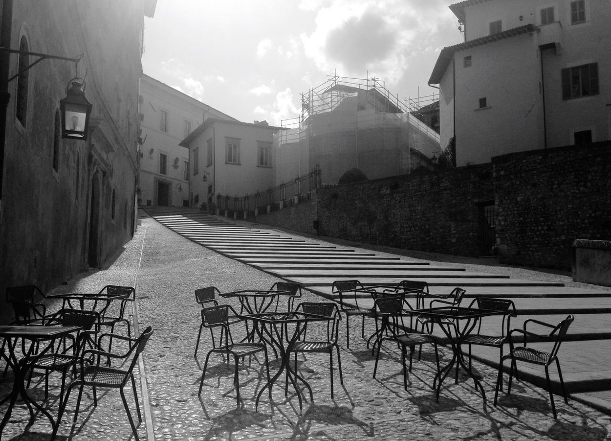 Spoleto Italy Piazza Duomo Tric Trac Lights And Shadows Monochrome Bw_collection Blackandwhite Getting Inspired Streetphotography
