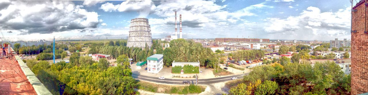 Nature Day Panorama Panoramic Cloud - Sky Tree Summertime Panoramic Landscape Landscape Outdoors Trees And Sky Samara Parklife Built Structure Architecture Cityscape No People Beauty In Nature Metalurg Metal Industry