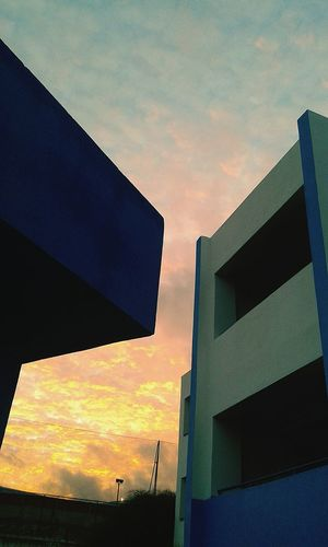 Evet Sunset Architecture Built Structure Building Exterior Outdoors Sky Modern first eyeem photo