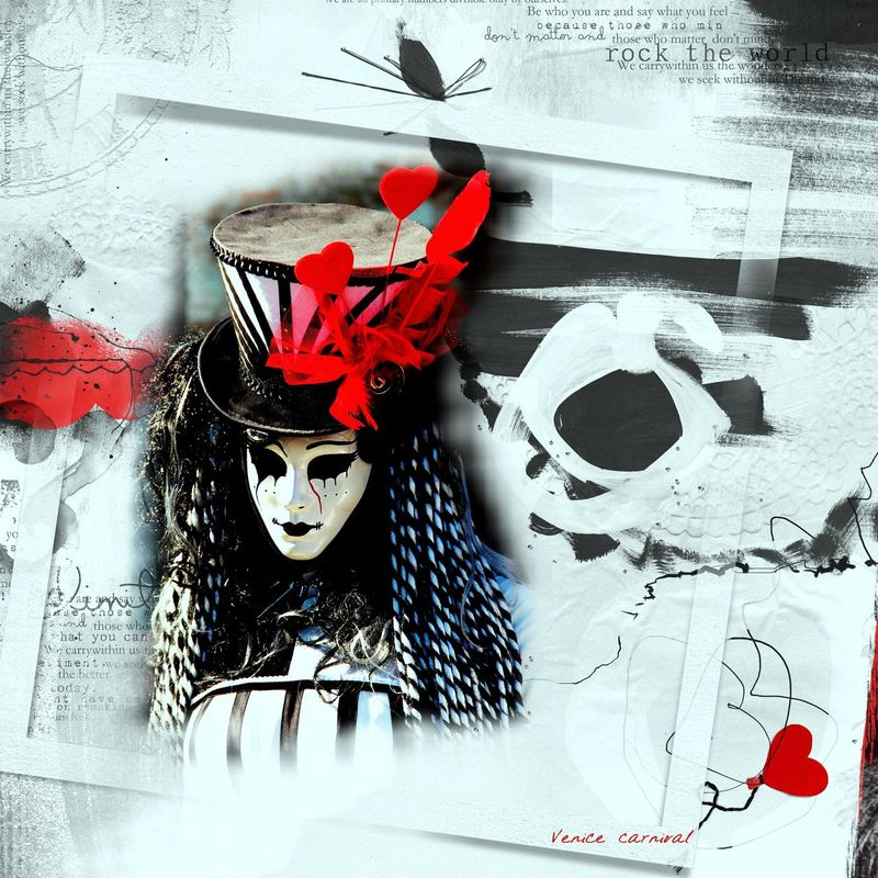 Venice Carnival Artwork ArtWork Carnival Design Poster Red&black Top-hat Venetian Mask Venice