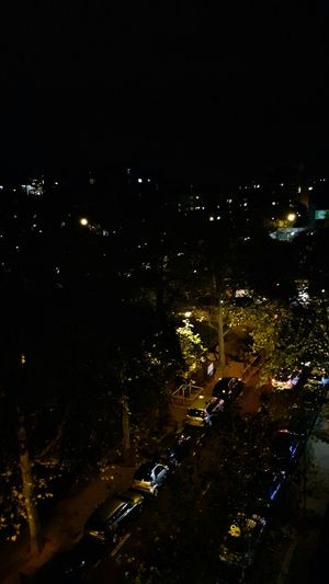 Cities At Night Lights Lights In The Dark Street Street Photography Darkness And Light Cars Trees View From Above View From The Window Paris, France  Porte De Champerret