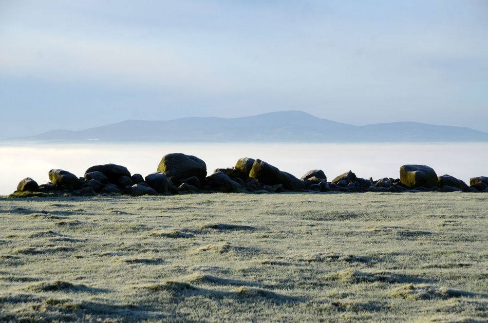 Boulders Day Fog Layer Frosty Mornings Mountain Outdoors Scenics Tranquility