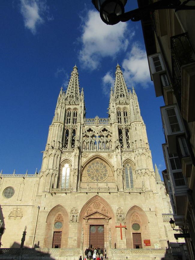 Sunlight Travel Destinations Architecture Church Kirche Kathedrale Cathedral Burgos SPAIN Spanien Santa Maria Way Of Saint James Jakobsweg Religion Place Of Worship Pilgrimage