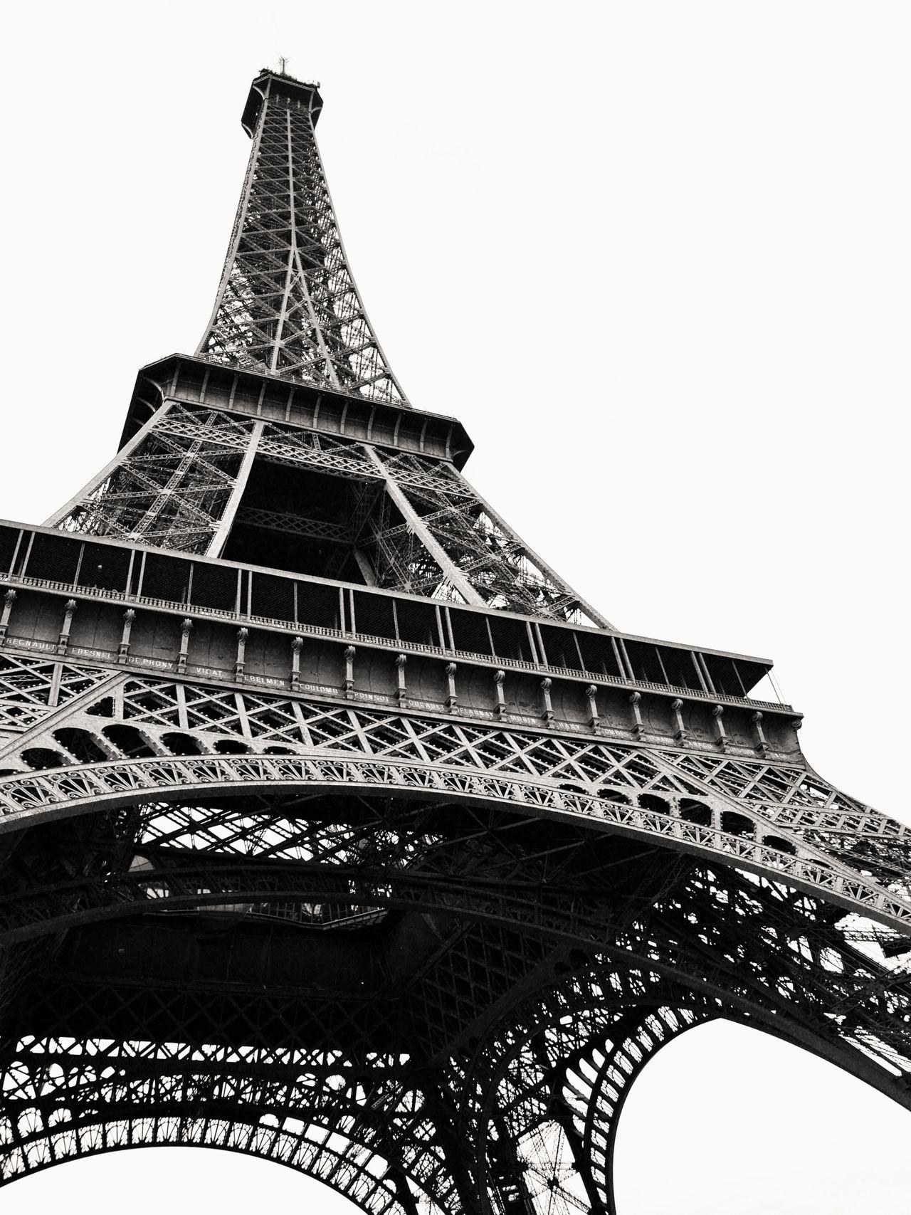 Eiffel tower B&W Architecture Black And White Built Structure City Eiffel Tower Monument No People Paris Tower Travel Destinations