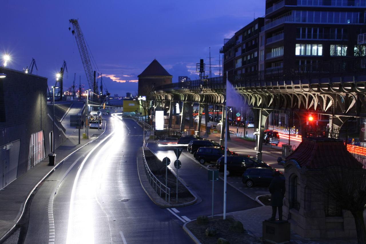 Blue Hour Germany Hamburg Hamburger Hafen Langzeitbelichtung Long Exposure Long Time Exposure Twilight