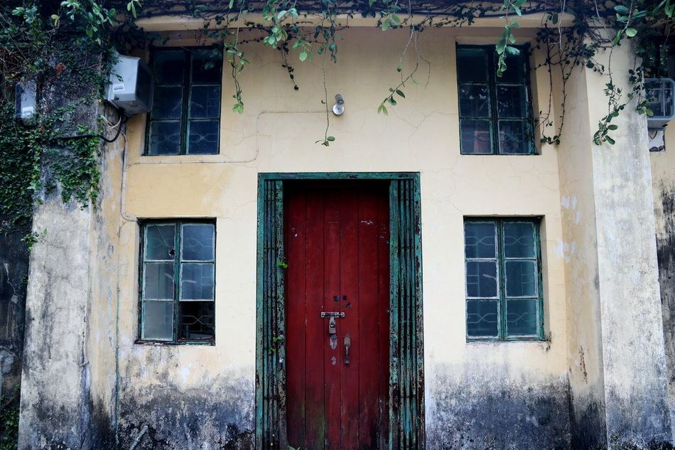 Abandoned village Abandoned Architecture ASIA Broken Broken Window Building Exterior Built Structure Deserted Deserted House Door Eerie Empty Ghost Ghost Town Hike Hong Kong House Nature New Territories No People Old Residential Building Tourism Village Windows