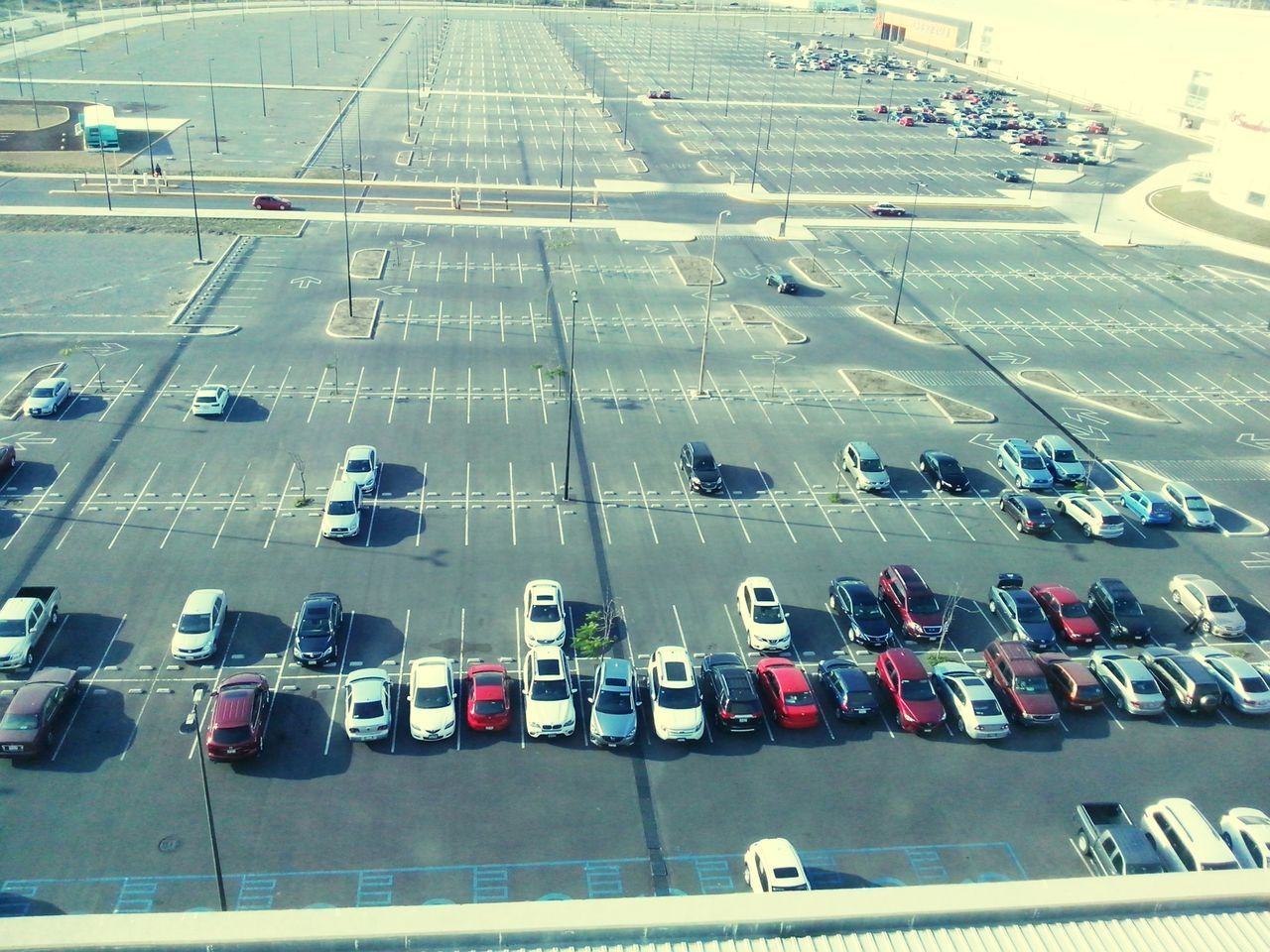 Peaceful And Quiet Empty Parking Lot Urban Landscape Urban Geometry Cars From My Window Sunny Day Taking Photos