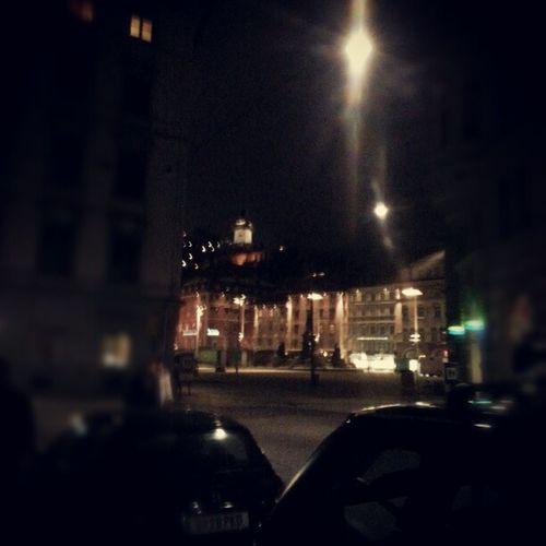 Graz Night Uhrturm Hauptplatz