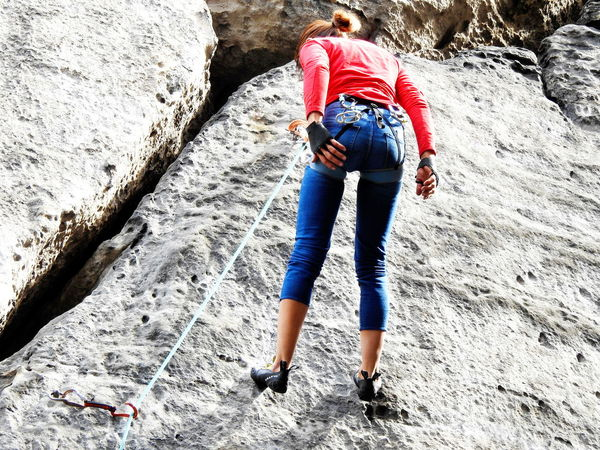 Adult Adults Only Beauty In Nature Day Human Body Part Leisure Activity Lifestyles Low Section Mountaineering Landscape Nature One Person One Woman Only Outdoors People Real People Vacations