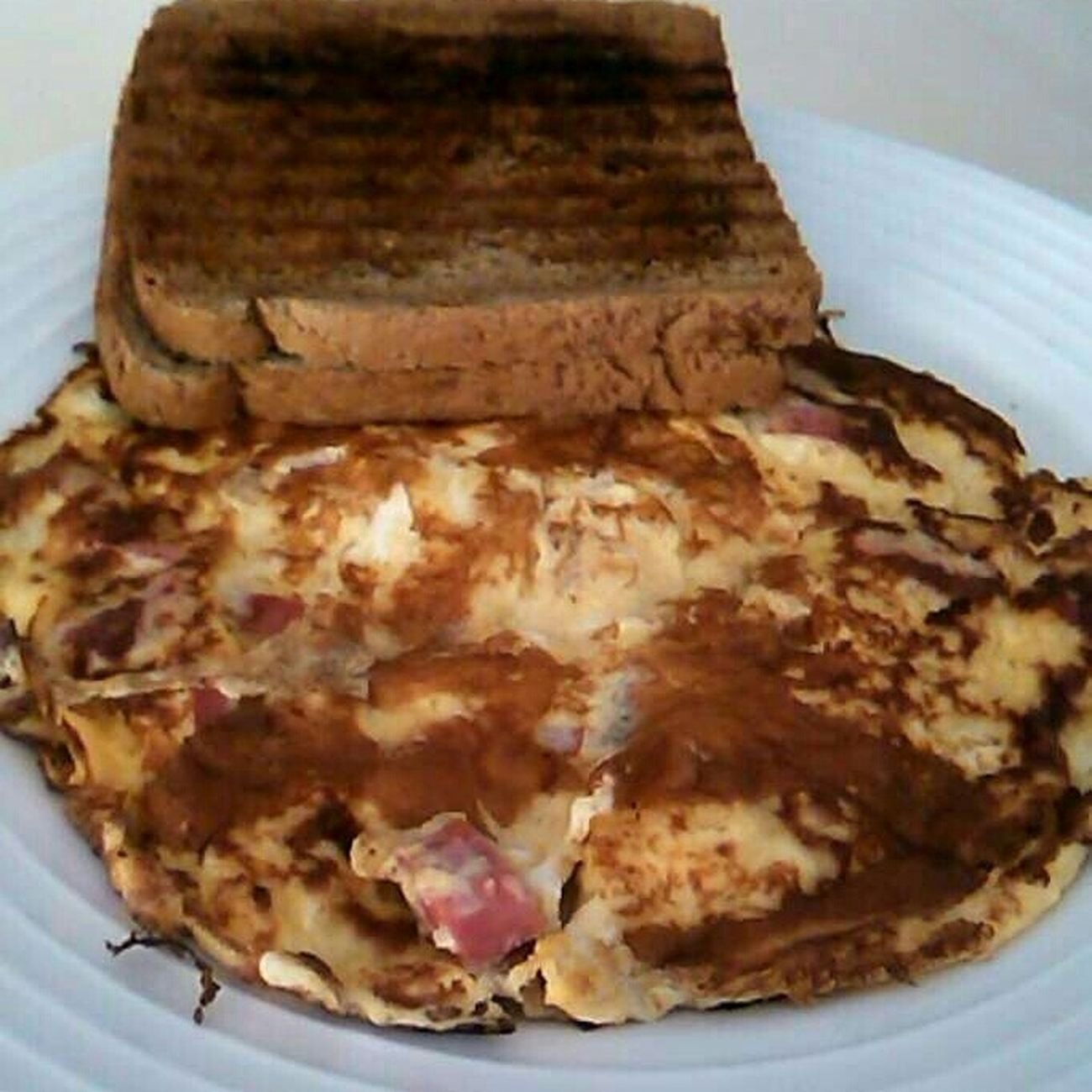 Lovely Time Eating Breakfast Omlet And Tost Drinking Coffee Yummy Yummy♡