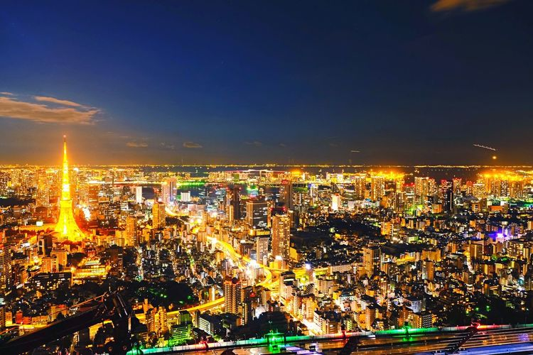 tokyo night Tokyo Tokyo Tower Night Lights Orange