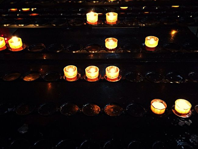 By Candlelight in a church in Strasbourg, France. Boost Filter