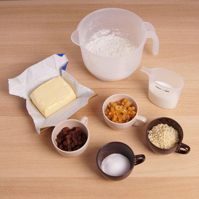 Stollen = German christmas cake Almonds Baking Bowl Bread Butter Cake Christmas Christstollen Cup Flour Food German Homemade Ingredients Kitchen Milk Preparation  Raisins Stollen Sugar Sweet