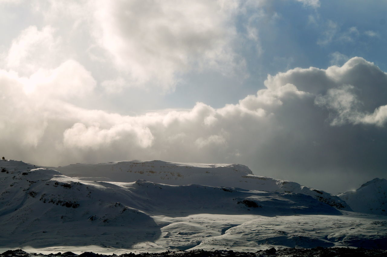 Beauty In Nature Cloud Cloud - Sky Cloudy Cold Temperature Iceland Iceland_collection Landscape Landscape_Collection Mountain Mountain Range Nature Non-urban Scene Season  Sky Snow Snowcapped Mountain Tranquil Scene Weather Winter Lamdscapes With Whitewall The KIOMI Collection