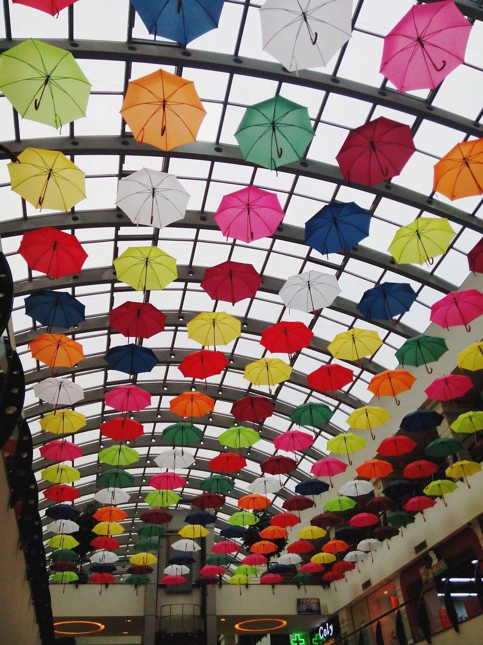Urban Lifestyle Flying Umbrella's Color Splash Taking Photos Eyemphotography Enjoying Life Colorful Umbrellas