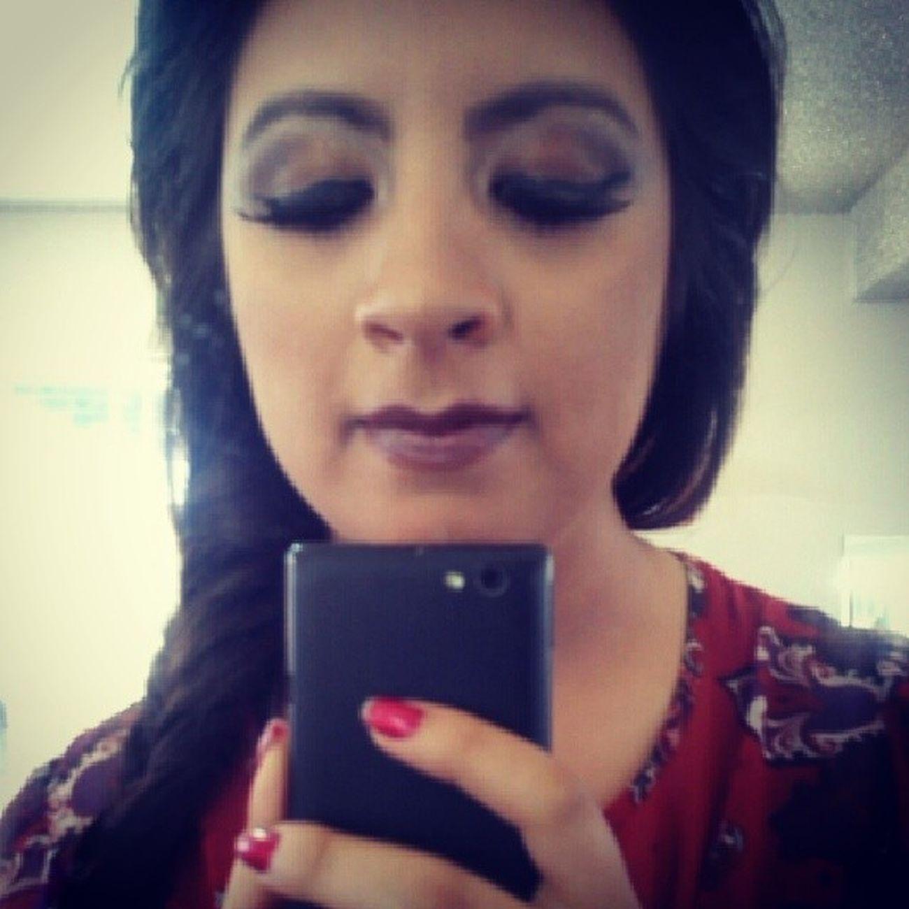 """""""pasarela style"""" Makeup Lovemakeup Maquillada Extreme style glamour pasarela maquillaje today brown"""