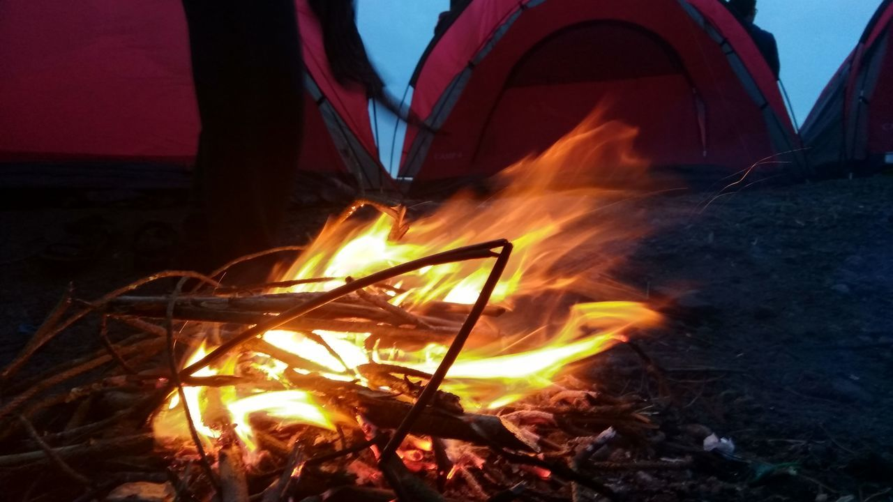 fire - natural phenomenon, flame, burning, heat - temperature, glowing, night, campfire, outdoors, bonfire, long exposure, no people, fire pit, illuminated, nature, close-up, sky