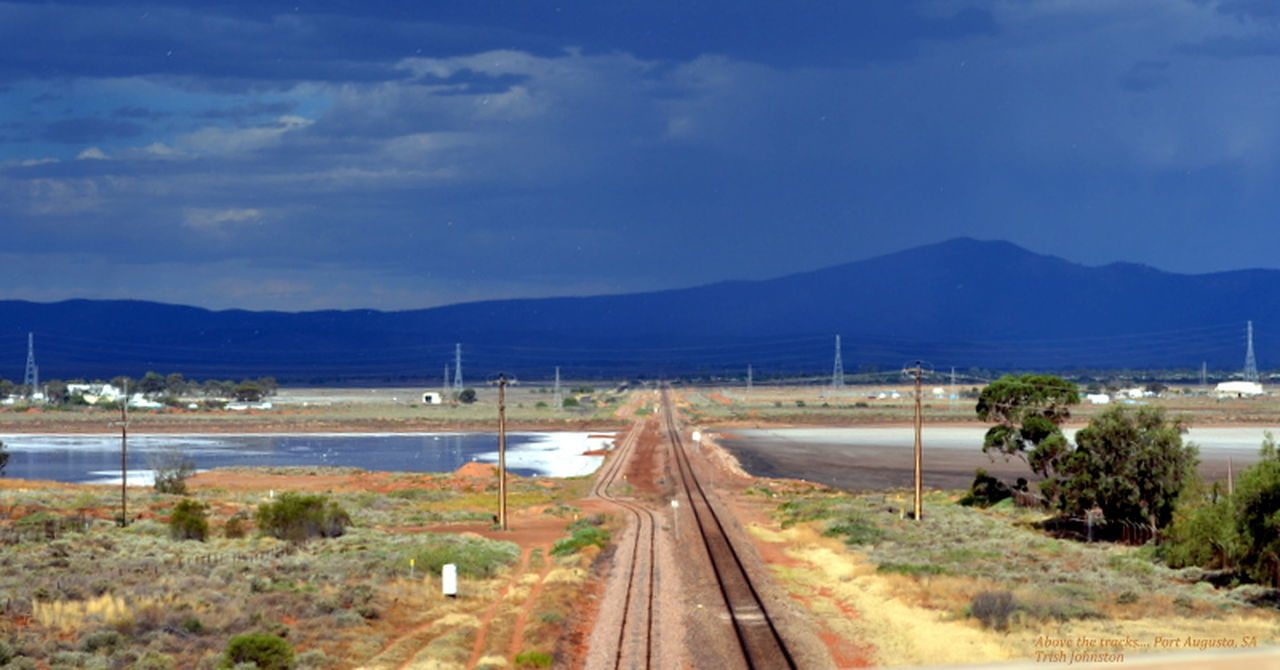 Landscape Mountain Nature No People Outdoors Railway Salt Lake Sky The Way Forward Water