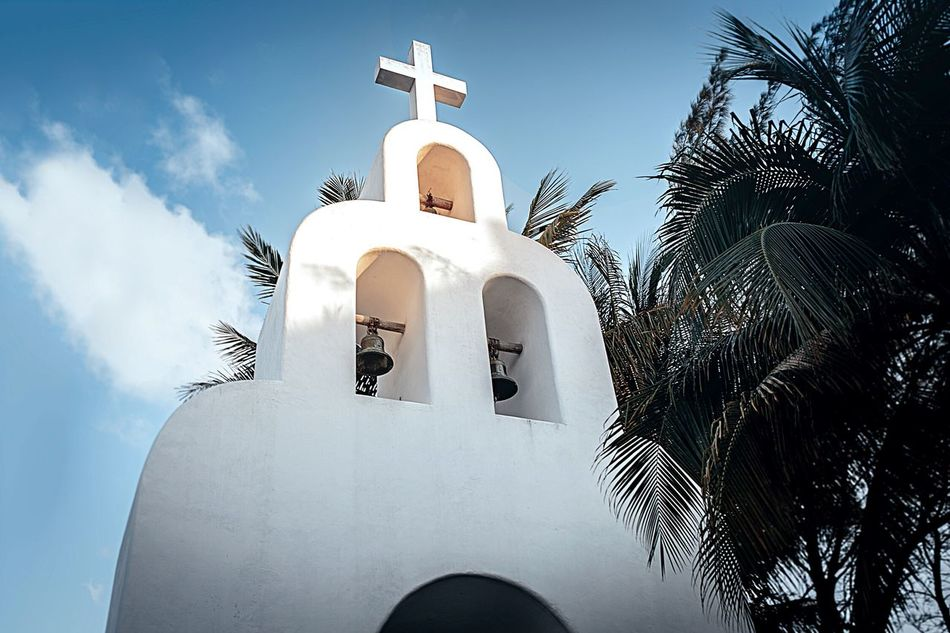 Beautiful stock photos of mexico, Architecture, Blue, Built Structure, Catholicism