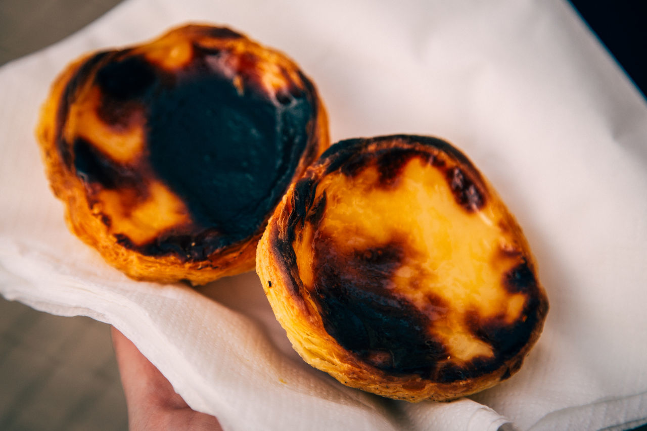 pastel de nata Baked Goods Close-up Custard Day Delicacy Dessert Dessert Food Food And Drink Freshness Human Body Part Human Hand Indoors  One Person Pastel De Nata Pastry People Ready-to-eat Real People Sweet Food Treat Vanilla