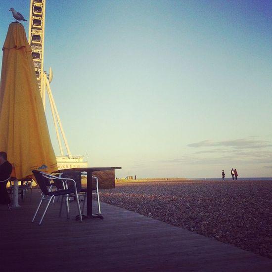 Brightonpier Strand Steine Riesenrad brightonamabend #sootoll♥ #wantback