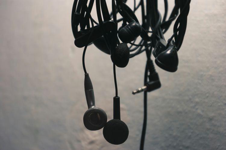 Bunch of Earphones Wires Jacks Novokuznetsk Kuzbass Siberia Russia
