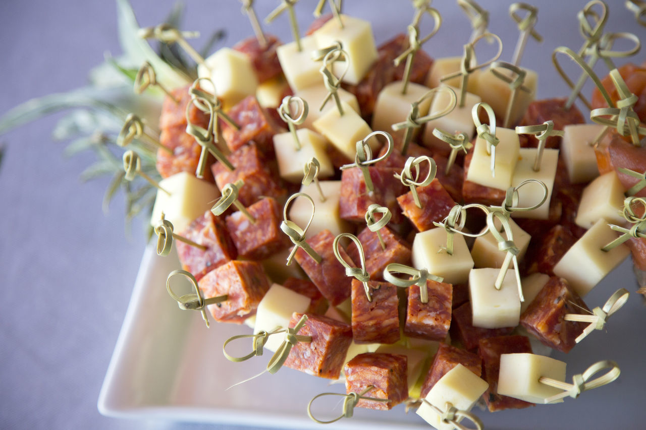 Canapes Canapé Catering Cheese Close-up Coctail Hour Day Fingerfood Food Food And Drink Freshness Healthy Eating Indoors  Many No People Ready-to-eat Salami Salamis Served Small Table