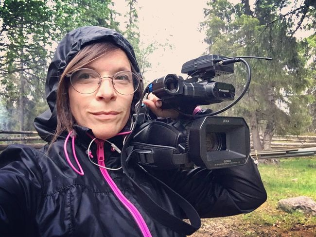 Me Selfie✌ Camera Outdoors Midnight Sun Home ©Liselottewajstedt Wood Kiruna Making A Film New Film Sweden Lappland Northen Liselotte Wajstedt Making A New Movie Tystnaden I Sápmi Silence In Sápmi Fosfor Produktion Director Liselottewajstedt