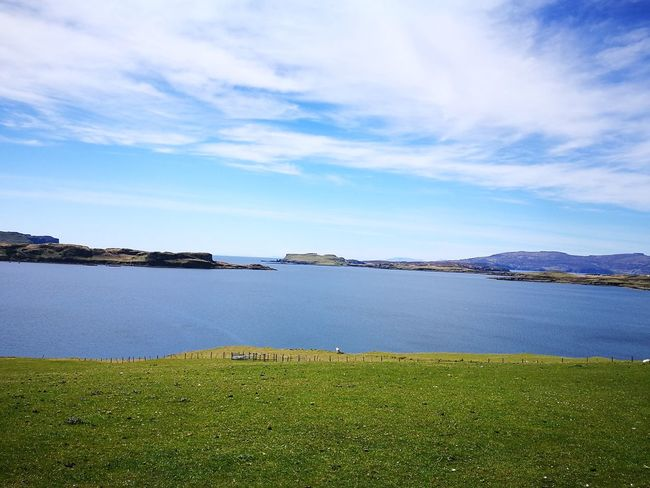 Outdoors Beauty In Nature Landscape Grass Sky Water Nature Isle Of Skye
