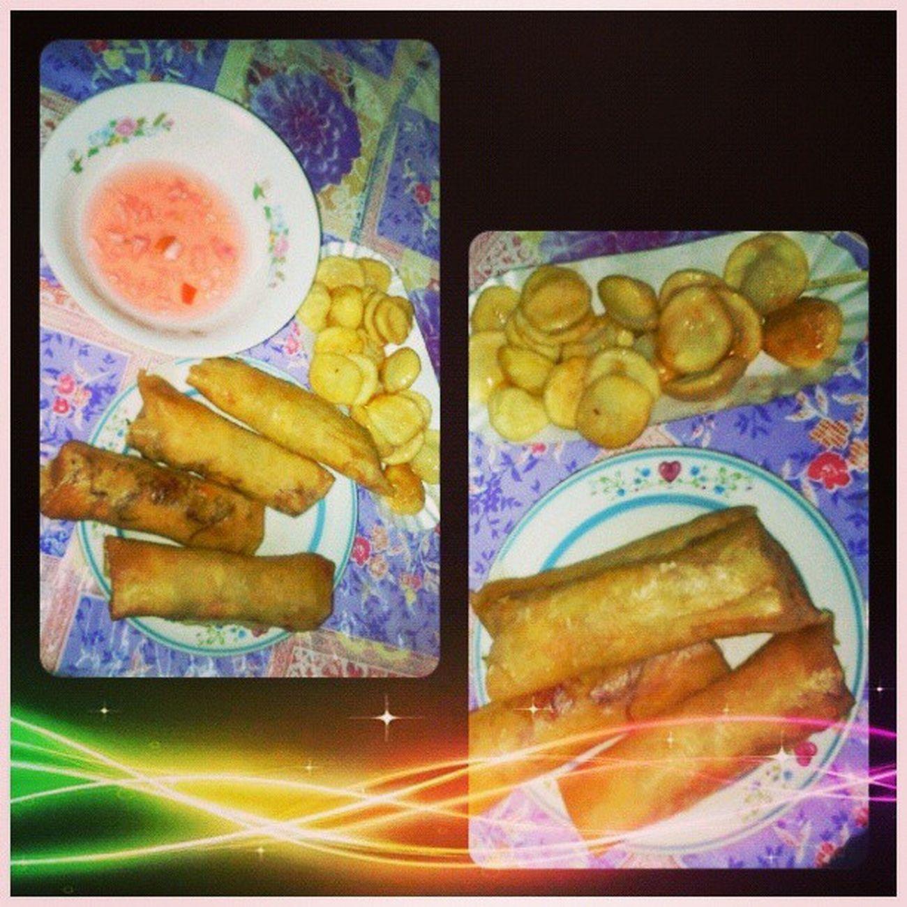 Perfect Meryenda, LumpiangToge and Fishballs PagkaengPinoy Lutongpinoy MeryendaTimes :)