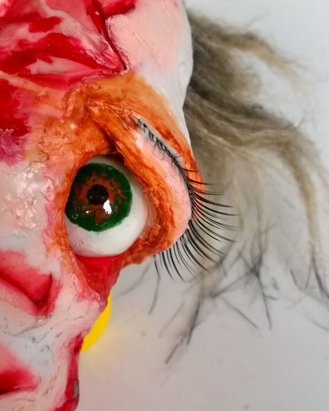 Art Sculpture Mixed Media Mixedmedia Paintings Sculptures Scary Dolls Dolls Head Extreme Close-up