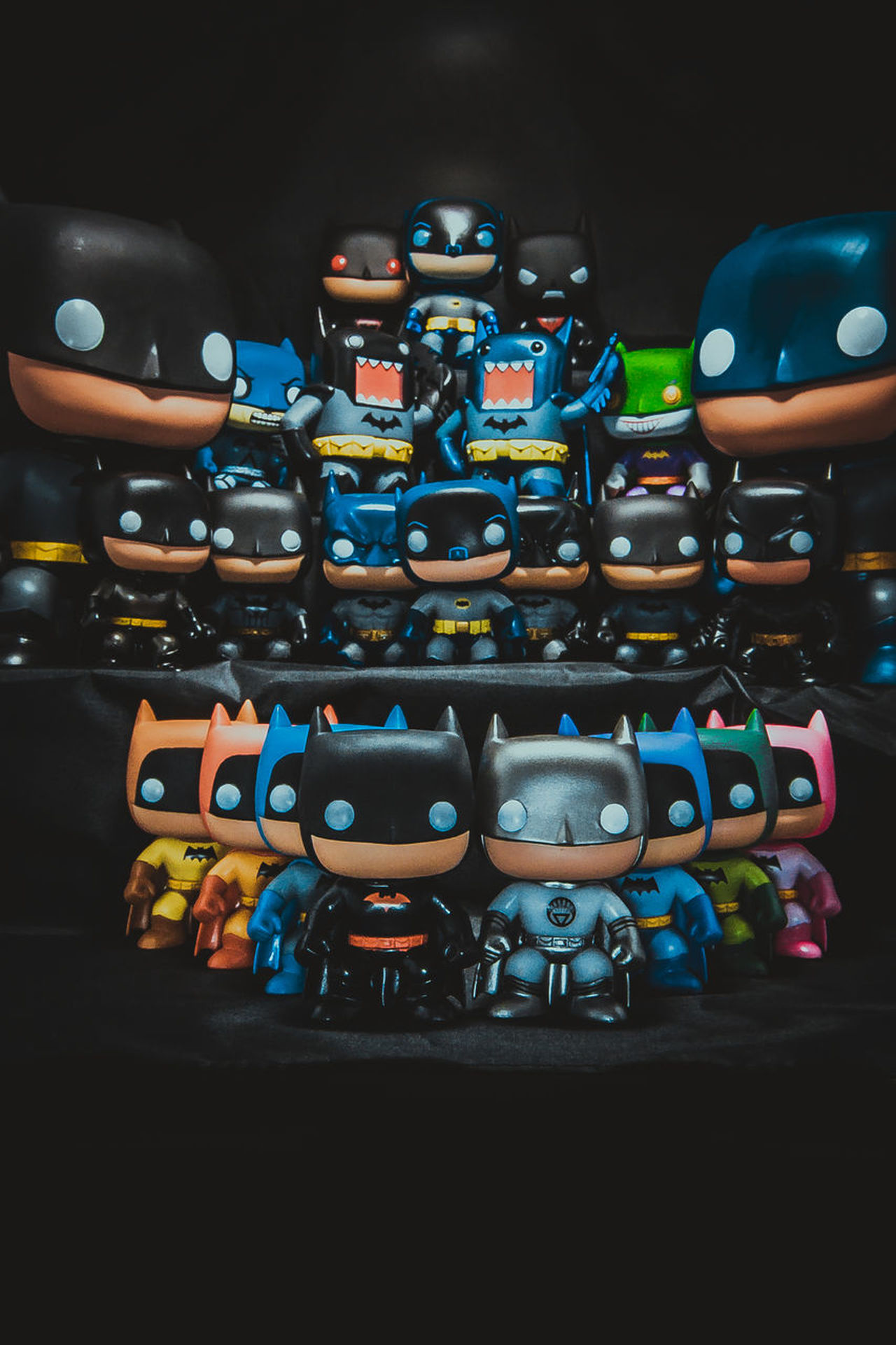 Abundance Arrangement Batman Choice Close-up Funko Indoors  Large Group Of Objects Multi Colored Night No People Toys Variation