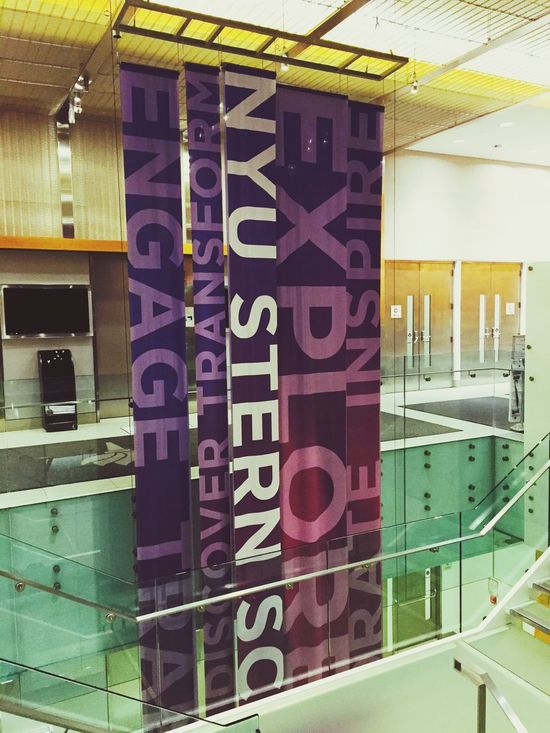 Dream school ! The stern school of business of NYU! Thank you David for showing around school for me.