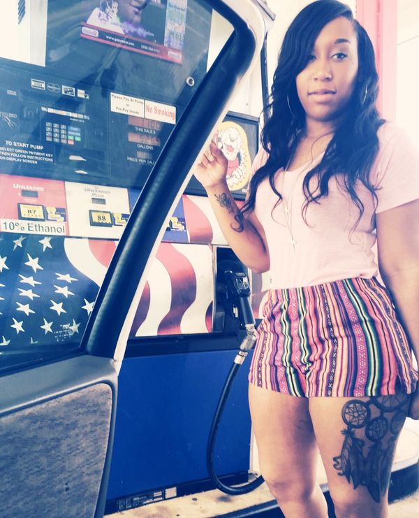 Getting Gas Beauty Girl Tatted Dream Catcher