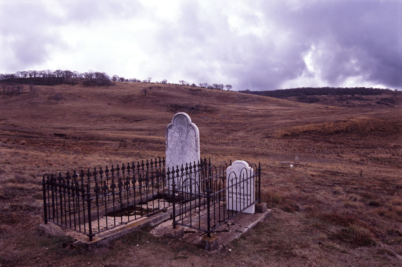 graves of gold miners, snowy mountains, victoria. Australia Burial Cemetery Chinese Chinese Thombstone Day Dead Field Grass Grassy Grave Graves Headstone Landscape Memorial Outdoors Rural Scene Victoria