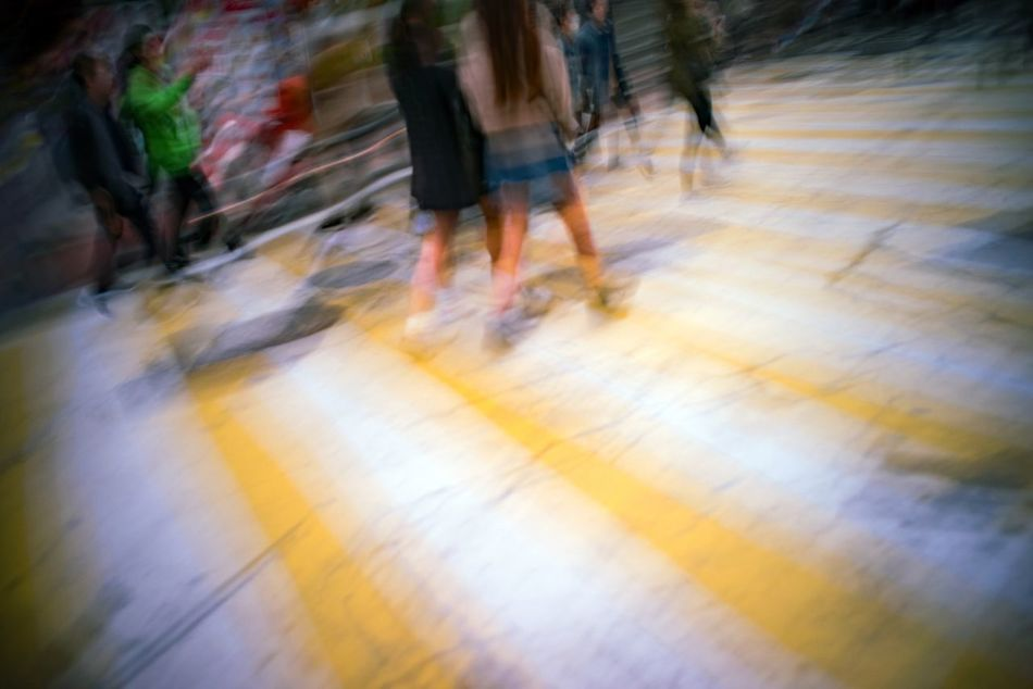 Blurred Motion Crossroads Gangnam Movement Photography Outdoors People Seoul Walking