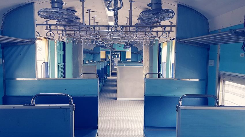 Empty Local Train at Bangalore No People Transportation Railways India Empty Train Train - Vehicle Train Bangalore Vintage Chairs Travel Holiday City Life Urban Transportation No People Day