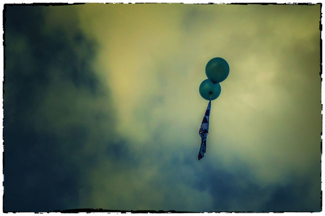 Balloons Beauty In Nature Blue Cloud Cloud - Sky Cloudy CrokePark Dublin Flag Ireland Irelandinspires Ireland🍀 Low Angle View No People Outdoors Scenics Sky Tranquility Weather