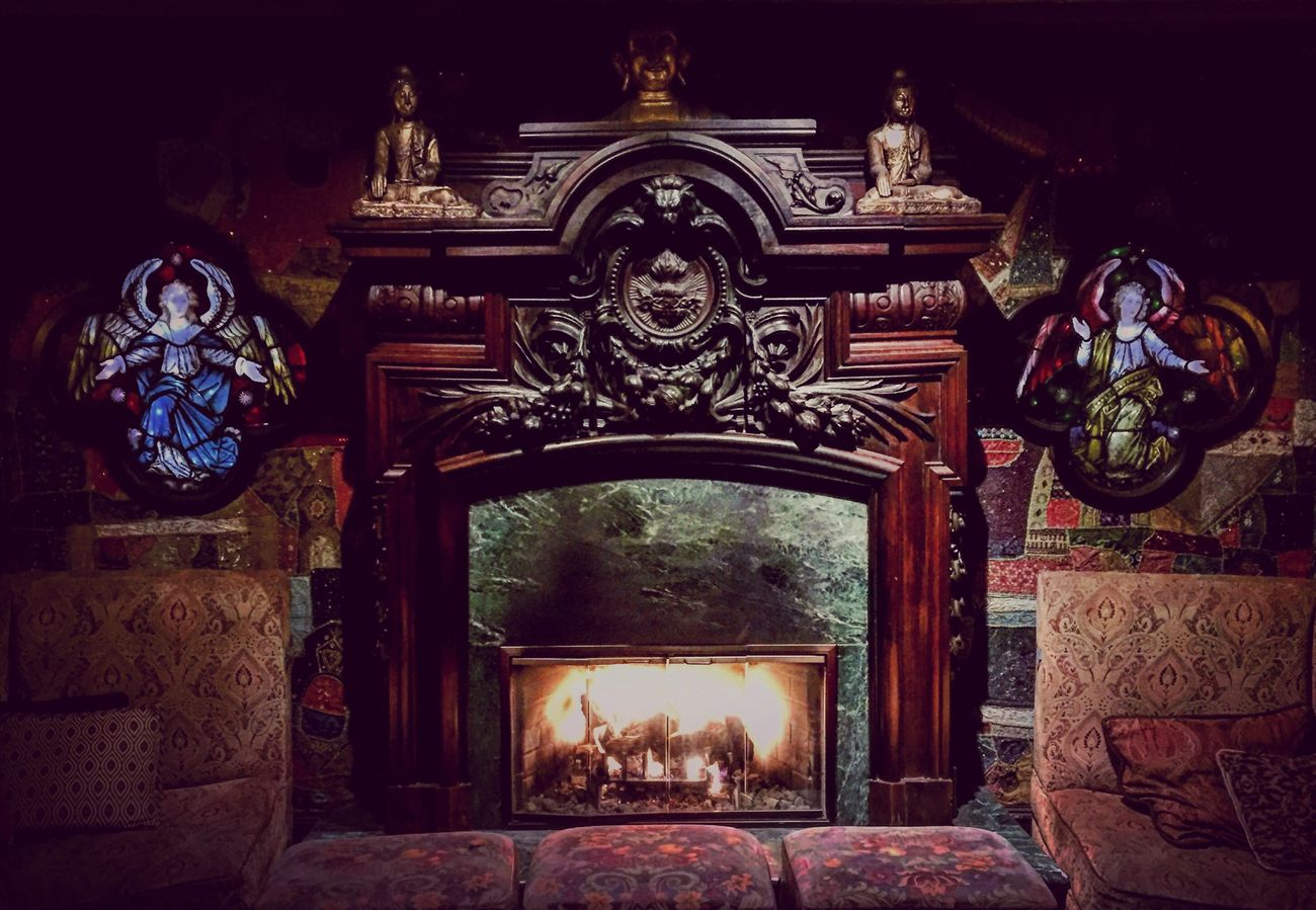 Fireplace Ornate Foundation Room Stained Glass Stainedglass Chicago Downtown Openhouse The Architect - 2016 EyeEm Awards