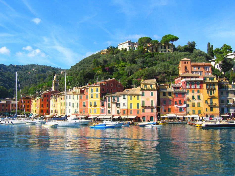 A beautiful day in Portofino Boat Day Luxury Yachts Millionaire_lifestyle Mode Of Transport Nautical Vessel Scenics Tourism Travel Destinations Water Yachts At Anchor