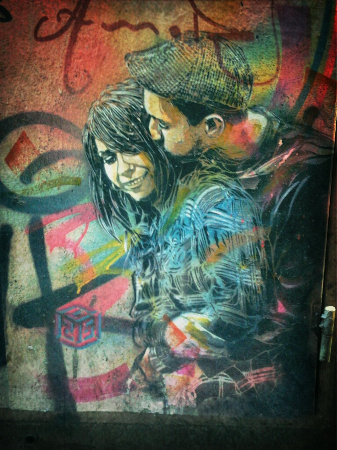 Streetphotography Stencil Art #C215