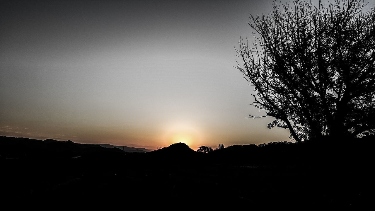 sight of things past Autumn Colors Backgrounds Grey Sky Hill Horizon Over Land No Clouds On The Farm Shadows And Light Spooky Atmosphere Strange Landscape Sunset Silhouettes Sunshadow Thirds Tree_collection  Twilightscapes