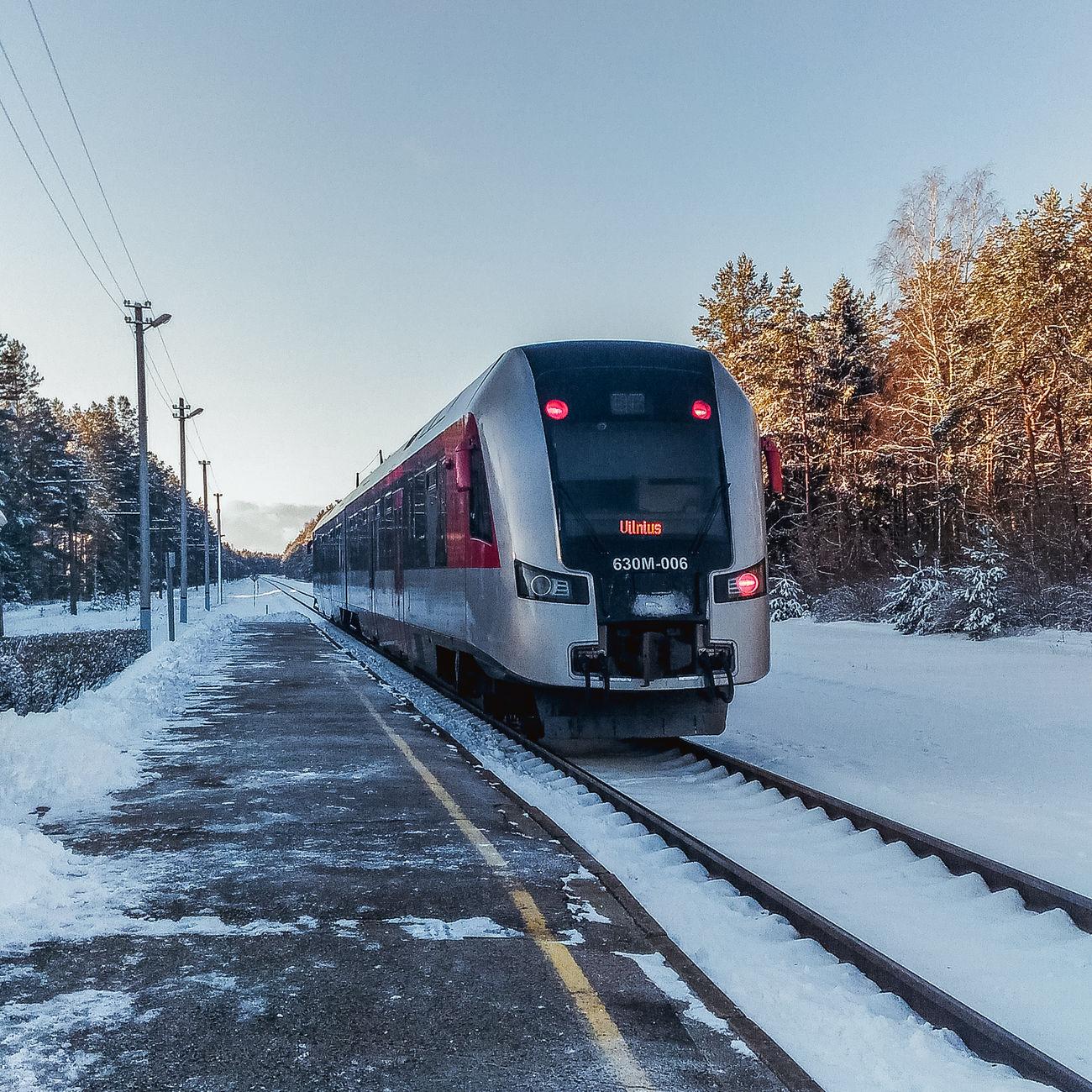 Transportation Train Train Station Rails Lithuania Popular Photos First Eyeem Photo 2017 EyeEm Beautiful Photo Photography February 2017 Hello World Visaginas