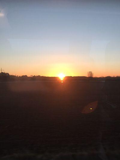 Commuting Sunrise Spring Has Arrived