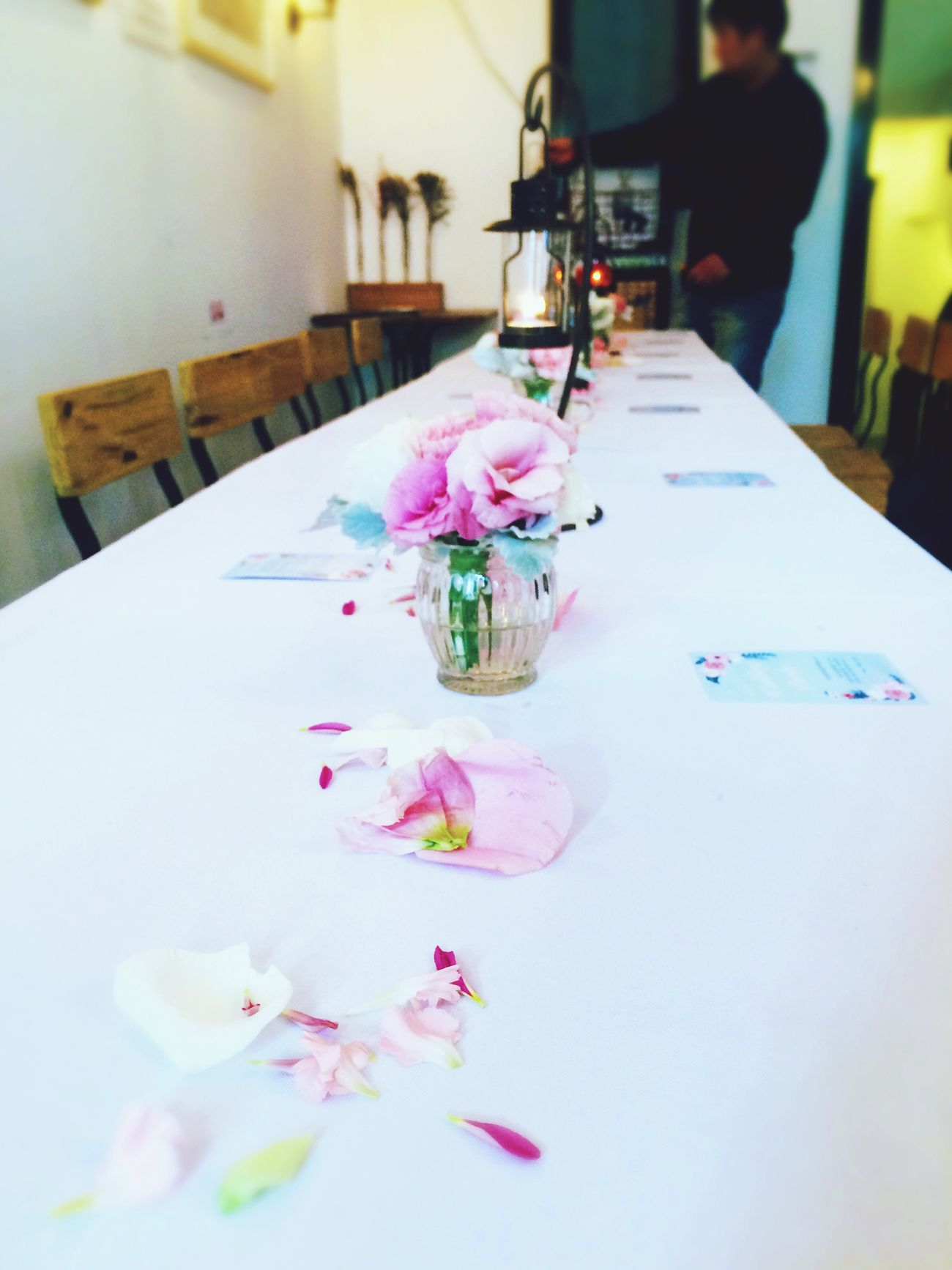 Great Atmosphere Meeting Beautiful ♥ Flowers Party Check This Out Hello World Longtable Dinner