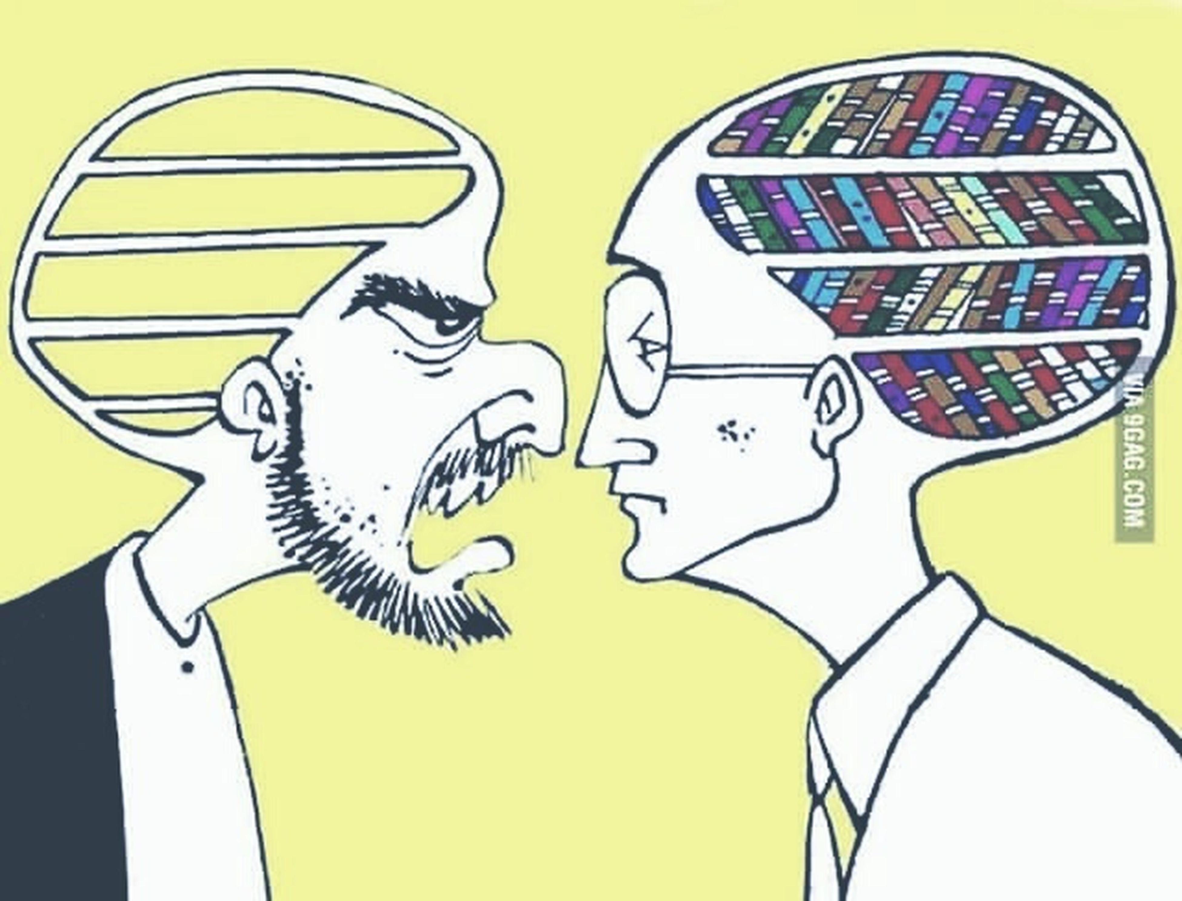 Intelligence Read Books Scream Ignorance IgnoranceVSintelligence